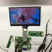 7 inch 1024*600 Capacitive Touch Screen 4 Point LCD Panel Module 720P HDMI VGA USB Car Raspberry Pi 3 Monitor Display