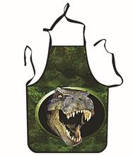 3D Funny Aprons Dinosaur Pattern Kitchen Apron Dinner Party Cooking Apron Cozinha Tablier Cuisine Pinafore Adult  Children