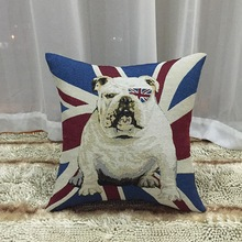Genuine cotton material double-sided pattern 45cm US and British flag pattern cushion cover pillowcase Sofa pillow good quality