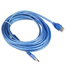 Free shipping 16ft 5M USB 2.0 male to female Active Repeater Extension Cable Blue(China)
