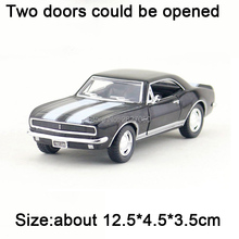 Collectible Alloy Diecast 1:37 Scale 1967 Chevrolet Camaro Z28 Diecast Metal Pull Back Car Model toys for Boys Gift