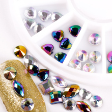 Laser Colorful 3D Mixed Shape Acrylic Design Rhinestones DIY Nail Art UV Gel Supplies Studs Decorations Crystal