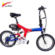 Red Blue Mini Folding Electric Bike 250W Brushless Hub motor Wheel 20*1.75inch Foldable Electric Bicycle Road Cycling Smart