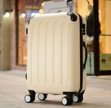 Cheap abs luggage spinner girls travel suitcase luggage bag reiskoffers trolley 20
