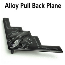 2015 B2 plane, 1:43 scale alloy Pull back Airplane model Toy Vehicles , black Diecasts Airplanes toys, free shipping(China)