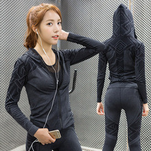 Zipper Hooded Long Sleeve Fitness Sportswear Women Sports Sweatshirt Hoodies Yoga T Shirt Running Jacket Tracksuit Sport Jerseys(China)