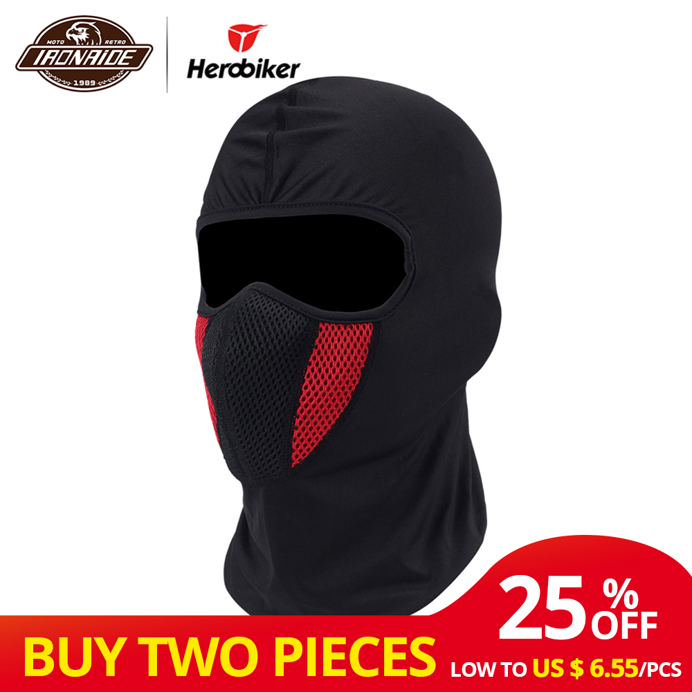 ARMR Moto Thermal Hood Cotton Motorcycle Motorbike Scooter Balaclava Black New