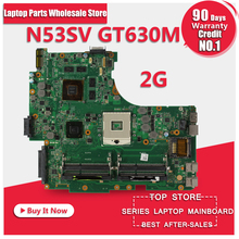 Original N53SV Motherboard For ASUS N53S N53SN N53SM With 4 RAM SLOT GT630M 2GB Fully test(China)