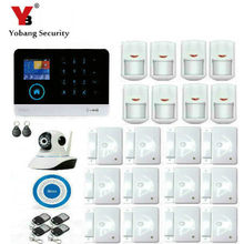 YobangSecurity Touch Screen Keypad Wifi GSM IOS Android APP Wired Home Burglar Security Alarm System Kit Wireless IP Camera(China)