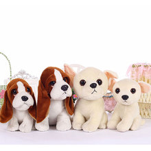 Stuffed toys squatting bassat hound dog chihuahua puppy kids toy plush animal anime peluches for children girls friends 18/22cm(China)