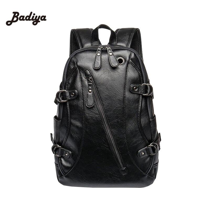 Backpacks Mochilas Para Ipad Case Mochila Leather Mens Backpack Male Book Bag Black Fashion Designer Knapsack Travel Mens<br>
