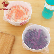 1Pc Silicone Wraps Seal Cover Stretch Cling Film Food Fresh Keep Kitchen Tools(China)