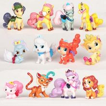 12PCS The Princess Pet Palace Pets Rapunael's Blondie Snow White's Bunny Berry Belle's Puppy Teacup Cinderella's Puppy Pumpkin