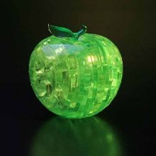3D crystal apple puzzle toy flash gift education item chilldren's toys P2