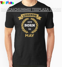 Teeplaza Custom Shirts Online Regular Legends Are Born In May Short O-Neck Tee Shirt For Men