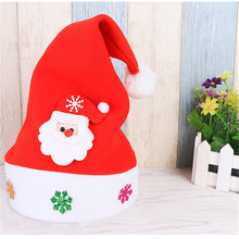 HAOCHU 6Pcs Children Hat Merry Christmas Festival Party Decoration Santa Cap Family Market Display Window Scene Drop Supplies