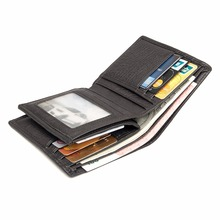 J.M.D 100% New Product First Layer Cow Leather Short Two Folds Wallet Classic Card Holder For Men 8184Q(China)