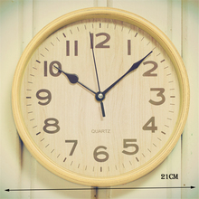 2017 Hot Sale Large Wall Clock Modern Design Imitation Wooden Hanging Vintage Silent Wall Clock Decor Watch Wall Wood Home Decor