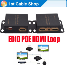 HDMI extender 50M over single cat5e/6 cable metal case with power supply(China)
