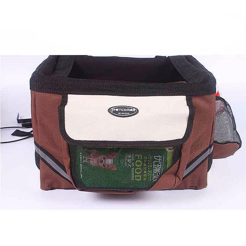 Pet dog bicycle carrier bag3