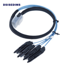 Internal Mini SAS Cable 36 Pin Mini SAS 4i SFF-8087 to 4 SFF-8482 SAS for SAS Server, Raid Card