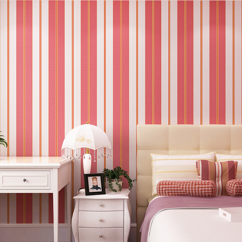 beibehang red stripes Vinyl Wallpaper for walls 3 d Blue Stripe Wall paper Roll Feature Vertical Striped papel de parede<br>