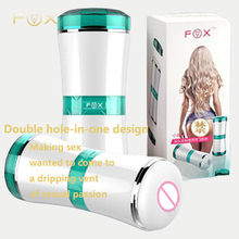 Hot sale sex toys  pocket pussy male Vibrate masturbator vaginal & anal Dual-homed sex cup,vibrate vagina anus integrated cup