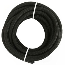 3M AN6 Nylon Racing Braided Light Weight Oil Fuel Hose Oil Cooler Hose Line Adapter Kit Black Hose