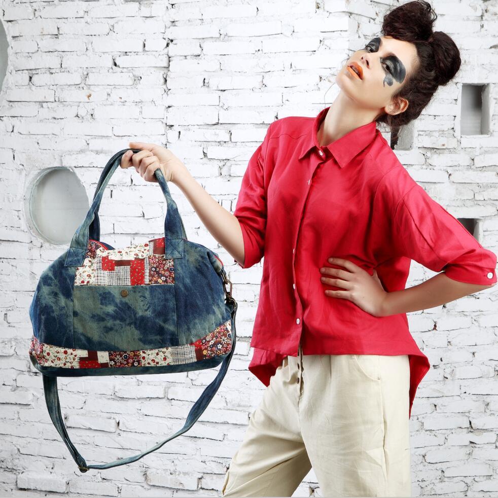 2016rushed Direct Selling Soft Daypack New Bag Cowboy Shoulder Messenger Korean Xiekua Package Carrying Big Bags Of Female Tide<br>