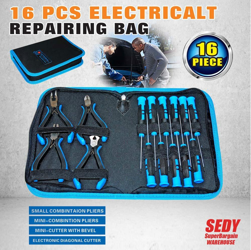 16Pcs Electrician Screwdriver Set Hand Tool Set Repair Bag Multifunction Waist Bag Hand Tool<br><br>Aliexpress
