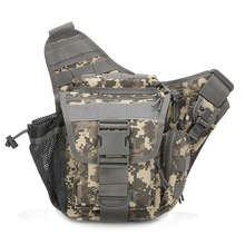 Small saddle bag, small pond goose bag, multi-function single shoulder camera bag, adventure photography chest bag