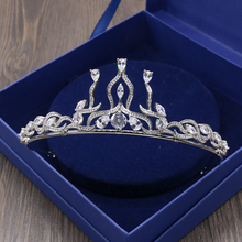 Clear AAA Cubic Zirconia Micro Inlays CZ Zircon Stone Brides Tiaras Hairband Prom Queen Princess Coronet Crown Wedding Jewelry