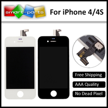 10PCS/LOT AAA Quality No Dead Pixel LCD Display Screen For Apple iPhone 4 4S Ecran Replacement With Touch Digitizer Assembly
