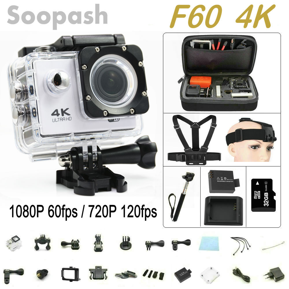 F60 Wifi Action Camera 4K Extreme Mini Diving Cam ...