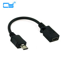0.1M Micro USB Male to Mini USB Female Adapter Cable for Tablet PC/MP3/Cellphone /GPS mp4(China)