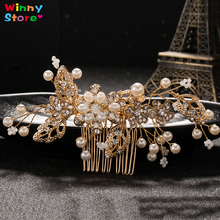 High Quality Handmade Hair Jewelry For Women Bride Bridesmaid Luxury Crystal Beads Hair Comb Pearl Hair Clips Hair Pins Party