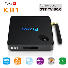 KB1 TV Box Amlogic S905X Quad Core 64Bit Android 6.0 RAM 1GB ROM 8GB 2.4GHz Dual WiFi BT4.0 4K UHD Media Player Set Top Box(China)