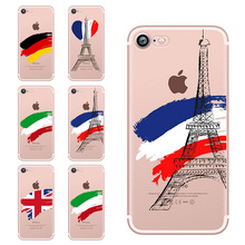 OWNEST phone cases for iphone 7 7 plus 6 6S 5 5S SE England Spain Italy France Germany Fans painted clear soft silicon TPU cover(China)