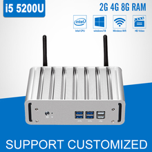 Mini Computer Core i5 5200U 2.20GHz Windows 10 Nuc Fanless Mini PC Desktop 120G SSD HD Graphics 5500 Office Gaming HTPC HDMI