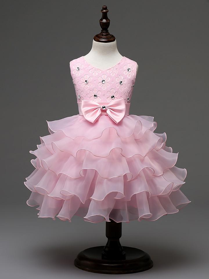 fashion white dress infant cupcake layers beaded 2016 girls christening dress<br><br>Aliexpress