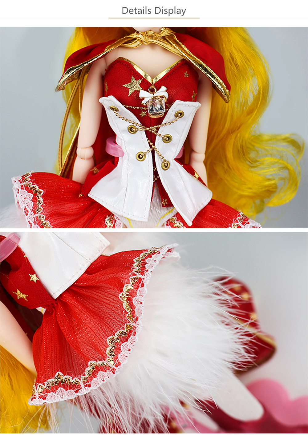 MMG-Girl-fortune-days-BJD-doll-12-constellations-LEO-with-cool-red-outfit-boots-tail-stand (4)