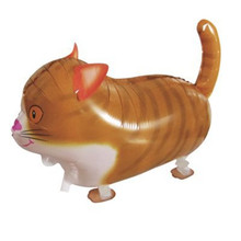 1pcs/lot Walk Cat Foil Balloon for children,children love Big Inflatable Print Walking Animal balloon party