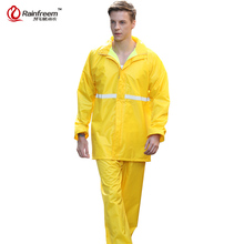 Rainfreem Impermeable Raincoat Women/Men Rainwear Single-layer Women Motorcycle Suits Waterproof Rain Gear Poncho(China)