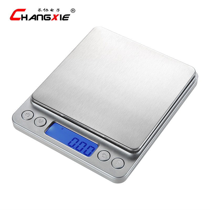 3kg  x 0.1g Digital Household Kitchen Scale LCD Display High Precision Electronic balance Scale Stainless Steel Bascula Cocina<br>