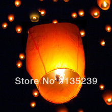 (50) White Paper Chinese Lanterns Sky Fly Candle Lamp for Wish Party Wedding(China)