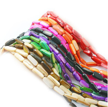 "Hot Sale 5*13mm Natural Freeform Shape 8 Color Shell MOP Loose Beads Strand 15"" DIY Creative Jewelry Making(China)"