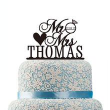 Personalized Wedding Cake Topper with Love Mr Mrs Cake Topper Custom Monogram Cake Topper with Date Wedding Cake Decorations