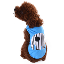 2017 New Summer Elephant Pattern Pets Vest AONMEISU Brand Dog Clothes Spring Casual Shirts Pet Vest for Small and Medium Dogs(China)