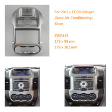 Car Radio Fascia multimedia Frame Kit For Ford Ranger With Auto Air conditioning2011+ Facia Panel Trim Dash CD(China)