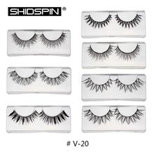 Hot 7 Pairs Mix False Eyelashes Kit 7 styles Fake Eye Lashes Makeup Beauty Eyelash Extension Faux Lashes Wispies Eyelashes V-20
